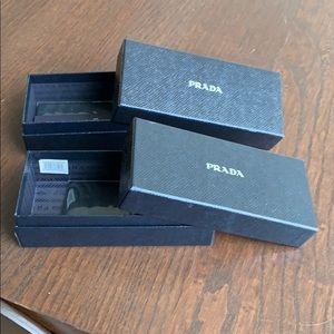 Prada Sunglasses Case (two of them)